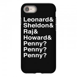 big bang theory helvetica names iPhone 8 Case | Artistshot