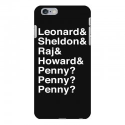 big bang theory helvetica names iPhone 6 Plus/6s Plus Case | Artistshot