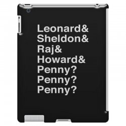 big bang theory helvetica names iPad 3 and 4 Case | Artistshot