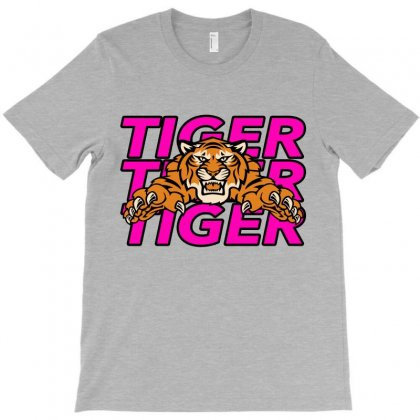 Tiger Tiger Tiger T-shirt Designed By Nurbetulk