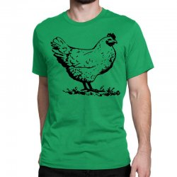 funny chiken Classic T-shirt | Artistshot