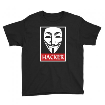 Anonymous Hacker Youth Tee Designed By Hektoart