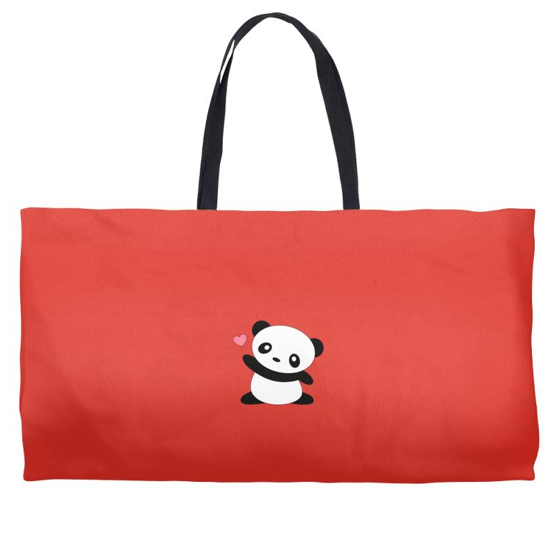 Custom Chasing Hearts Kawaii Cute Panda Weekender Totes By Mdk Art ... 48ab33fd31e86