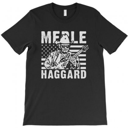 Merle Haggard T Shirt Vintage Country Rock T Shirt T-shirt Designed By Teeshop