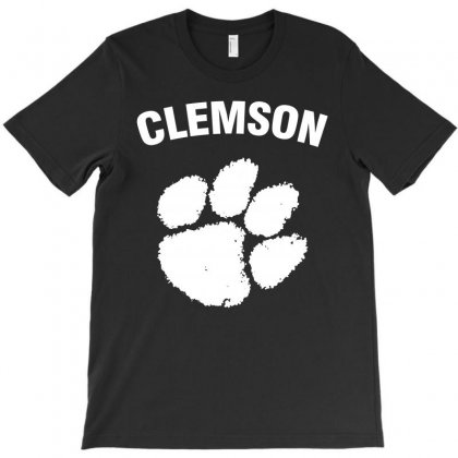 Clemson Tigers (white) T-shirt Designed By Black White