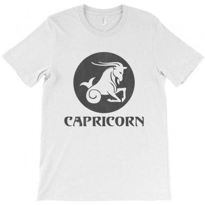 Capricorn Astrological Sign T-shirt Designed By Blqs Apparel