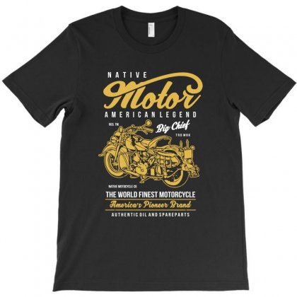 Native Motorcycle T-shirt Designed By Teeshop