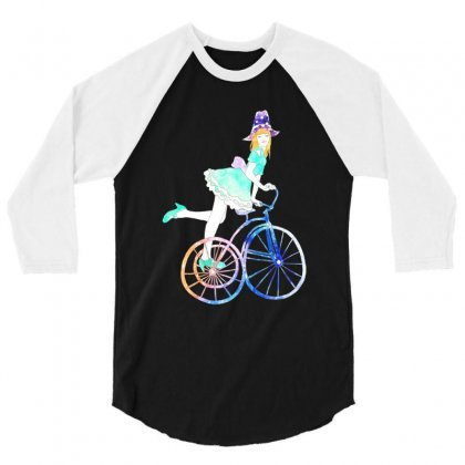 Cycling Beauty 3/4 Sleeve Shirt Designed By Blqs Apparel