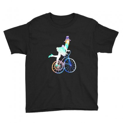 Cycling Beauty Youth Tee Designed By Blqs Apparel