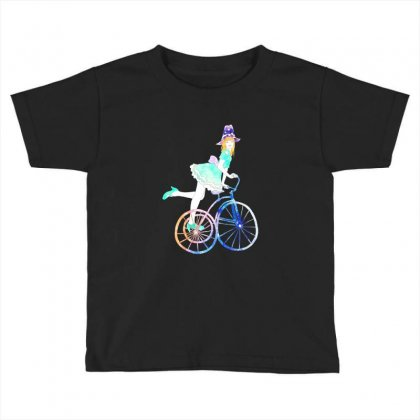 Cycling Beauty Toddler T-shirt Designed By Blqs Apparel