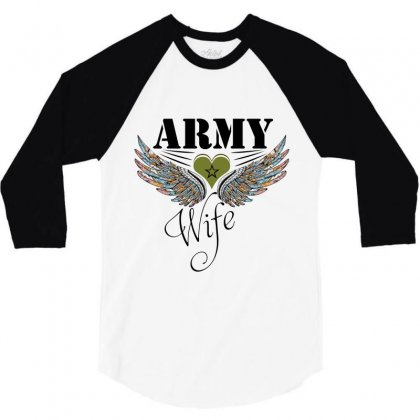 Army Wife 3/4 Sleeve Shirt Designed By Wizarts