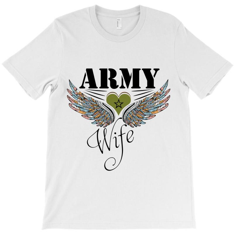64bbb30f Custom Army Wife T-shirt By Wizarts - Artistshot