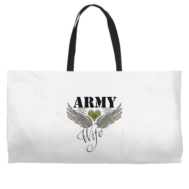 d1aade74 Custom Army Wife Weekender Totes By Wizarts - Artistshot