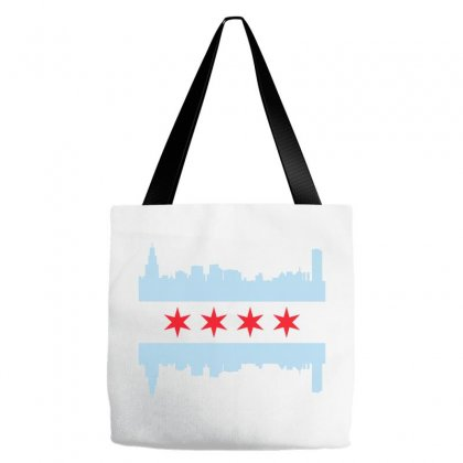 Chicago Flag Tote Bags Designed By Sengul