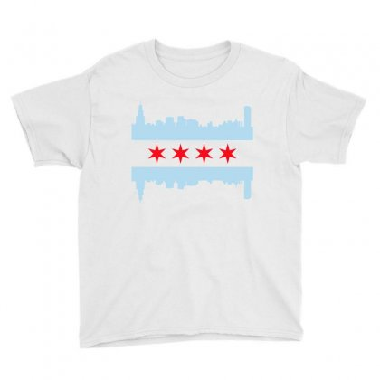 Chicago Flag Youth Tee Designed By Sengul