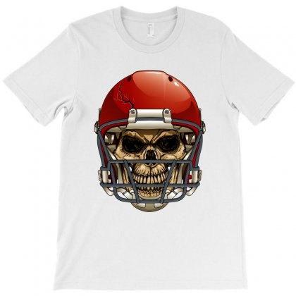 Cool Vector Football Skull T-shirt Designed By Dxart77