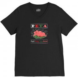 peta people eating tasty animals V-Neck Tee | Artistshot