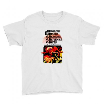 Dungeons & Diners & Dragons & Drive Ins & Dives ,escape From Flavortow Youth Tee Designed By Blqs Apparel