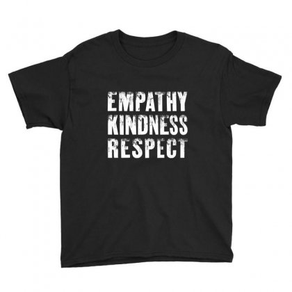 Empathy Kindness Respect Youth Tee Designed By Blqs Apparel