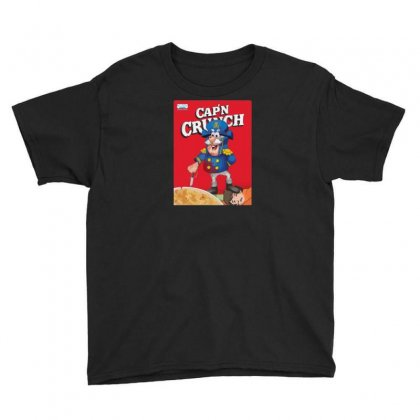 Crunchy Cereal Maniac Youth Tee Designed By Ik1n