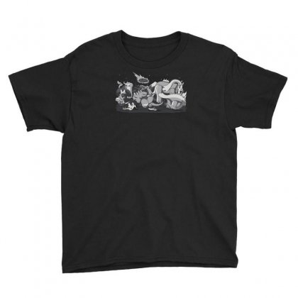 Cubist Extinction! Youth Tee Designed By Ik1n