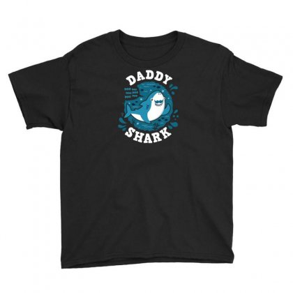 Daddy Shark Youth Tee Designed By Ik1n