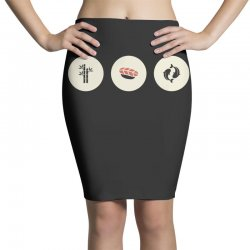 japan icons ii Pencil Skirts | Artistshot