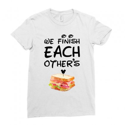 We Finish Each Other's For Light Ladies Fitted T-shirt Designed By Sengul