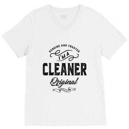 Cleaner V-neck Tee Designed By Ale Ceconello