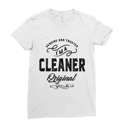 Cleaner Ladies Fitted T-shirt Designed By Ale Ceconello