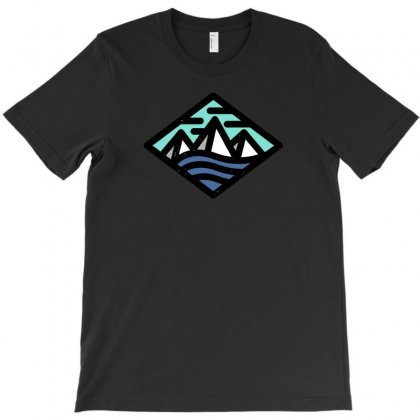 Mountains Logo I T-shirt Designed By Ik1n