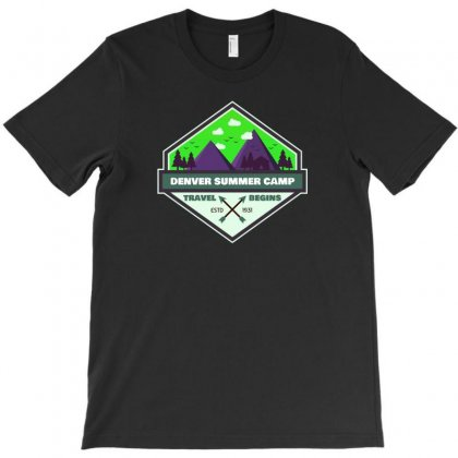 Nature Camp T-shirt Designed By Ik1n