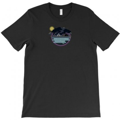 Night Camping T-shirt Designed By Ik1n