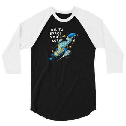 Oh To Space 3/4 Sleeve Shirt Designed By Ik1n