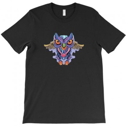 Owl Colors T-shirt Designed By Ik1n