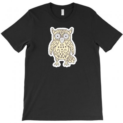 Owl N I T-shirt Designed By Ik1n