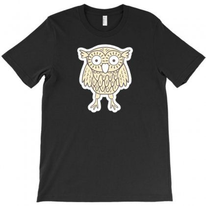 Owl Nn T-shirt Designed By Ik1n