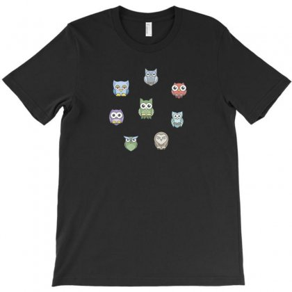 Owlsss T-shirt Designed By Ik1n