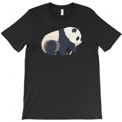 Panda Eat T-shirt Designed By Ik1n