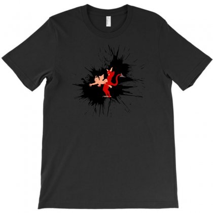 Paradox Cracktro Angel Vs Demon T-shirt Designed By Ik1n