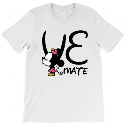 Love Mate Minnie For Light T-shirt Designed By Sengul