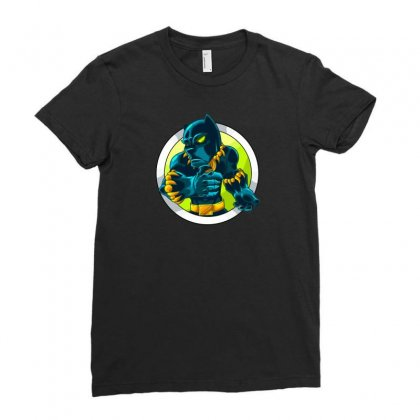 Black Panther New Ladies Fitted T-shirt Designed By Z4k1