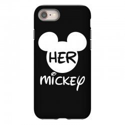 61ad8d0bc9e923 Custom Her Mickey For Dark Ladies Fitted T-shirt By Sengul - Artistshot