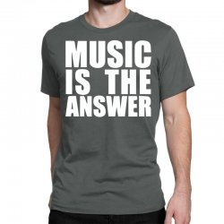 music is the answer printed Classic T-shirt | Artistshot