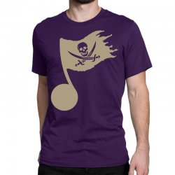 music pirate Classic T-shirt | Artistshot