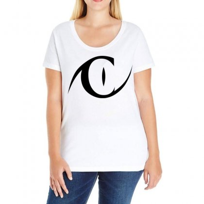 Catwoman (black) Ladies Curvy T-shirt Designed By Black White