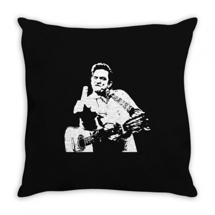 Johnny Cash Middle Finger Shirt Johnny Cash Middle Finger Poster Johnn Throw Pillow Designed By Tee Shop