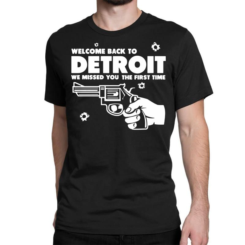Welcome Back To Detroit Classic T-shirt | Artistshot