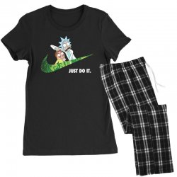 just do it rick and morty for dark Women's Pajamas Set | Artistshot