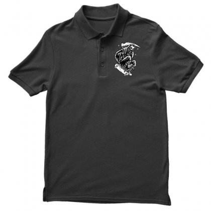 Grim Skater Men's Polo Shirt Designed By Quilimo